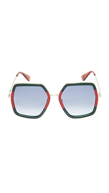 Gucci Urban Web Block Sunglasses