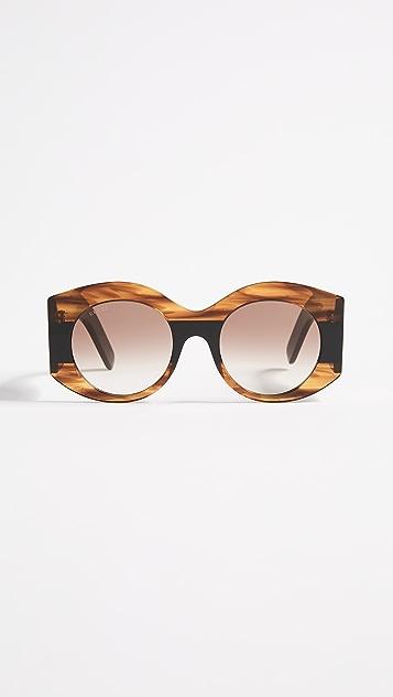 Gucci Urban Pop Web Oval Sunglasses