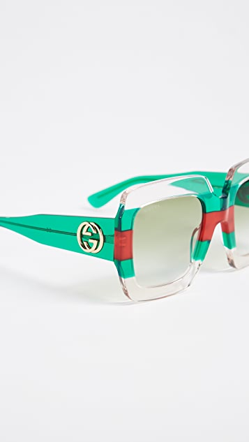 Gucci Urban Pop Square Sunglasses