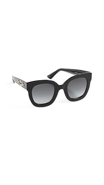 Gucci Солнцезащитные очки Urban Stars в прямоугольной оправе