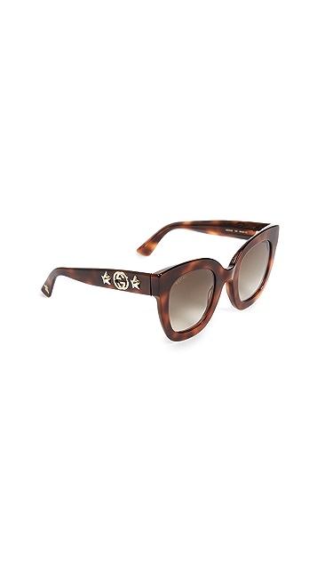 Gucci Urban Stars Rectangle Sunglasses