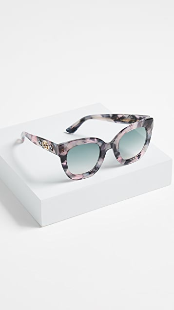 Gucci Urban Stars Rectangle Sunglasses