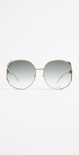 Gucci - Urban Folk Oval Sunglasses