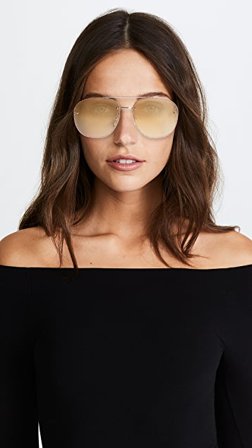 Gucci Urban Web Block Glitter Aviator Sunglasses