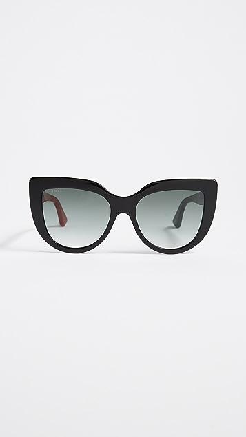 242ec14d413 Gucci Cat Eye Flat Top Sunglasses