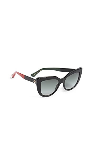 Gucci Cat Eye Flat Top Sunglasses