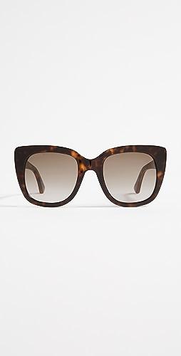 Gucci - 方形太阳镜