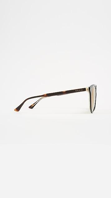 Gucci Opulent Luxury Decor Round Sunglasses