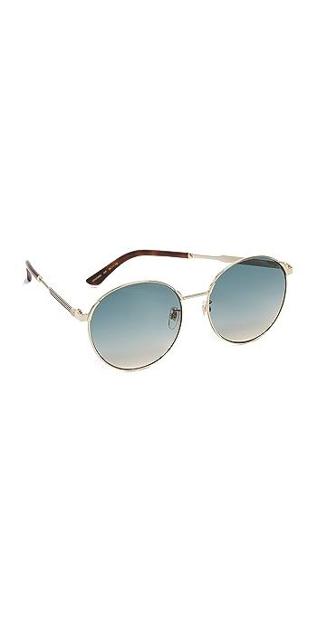 Gucci Sensual Romanticism Round Sunglasses - Gold/Blue