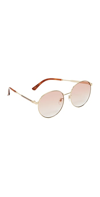 Gucci Sensual Romanticism Round Sunglasses - Gold/Orange
