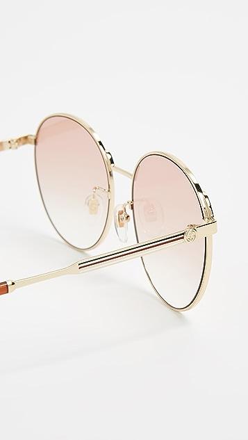 Gucci Округлые солнцезащитные очки Sensual Romanticism