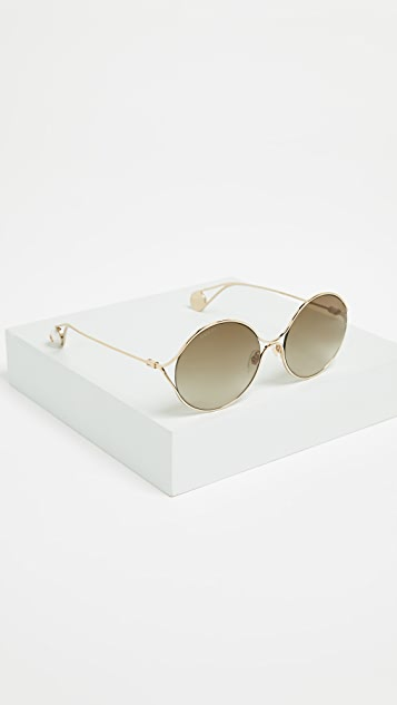 Gucci Fork Oval Frame Sunglasses