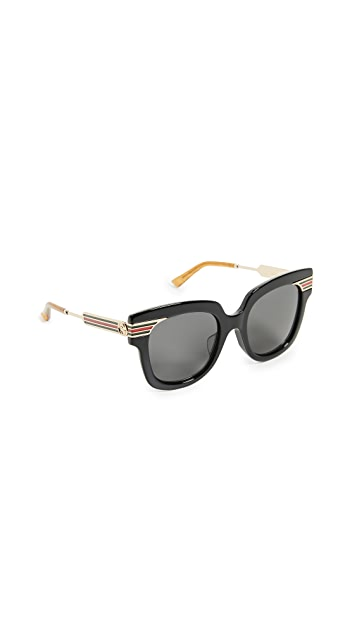 Gucci Vintage Web Oversized Sunglasses