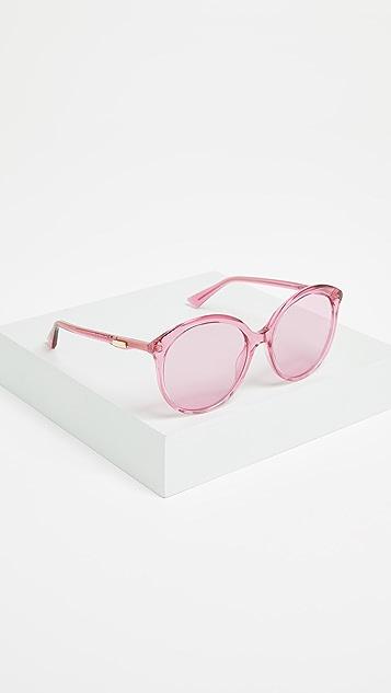 Gucci Круглые солнцезащитные очки Monocolor