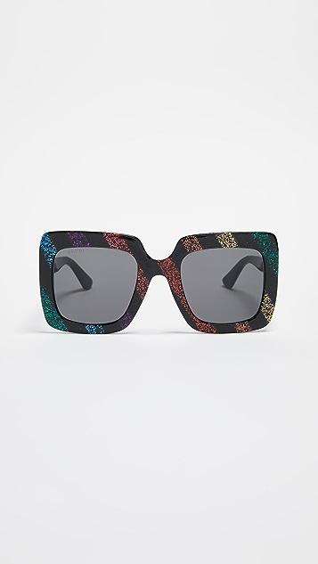 4b6de965bd37e Gucci GG Square Oversized Sunglasses