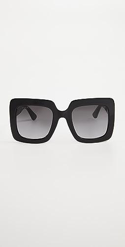 Gucci - GG Square Oversized Sunglasses