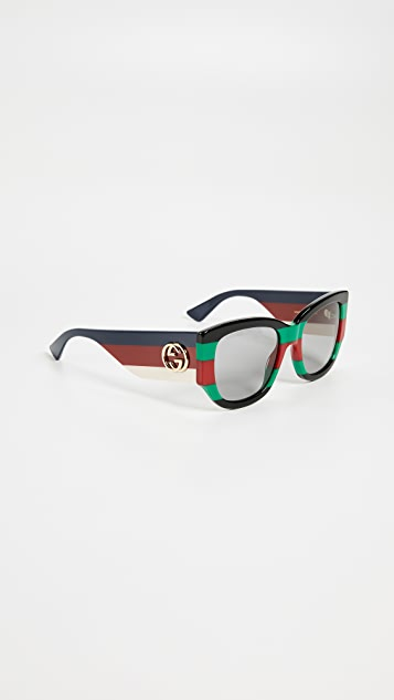 Gucci Sylvie Bold Cat Eye Sunglasses