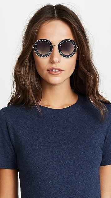 Gucci L'Aveugle Par Amour Round Sunglasses