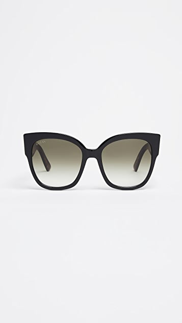 Gucci Sensual Romanticism My Little Tiger Oversized Square Sunglasses