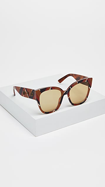 Gucci Sensual Romanticism My Little Tiger Oversized Square Sunglasses