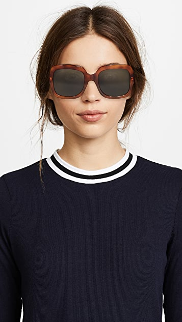 Gucci Urban Pop Web Oversized Rectangular Sunglasses