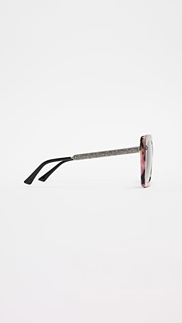 Gucci New Decor Symbol Square Sunglasses