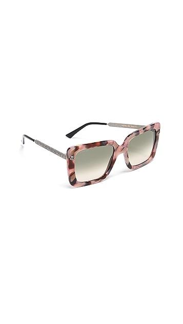 Gucci Солнцезащитные очки New Decor Symbol в квадратной оправе