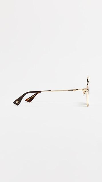 Gucci Urban 圆形太阳镜