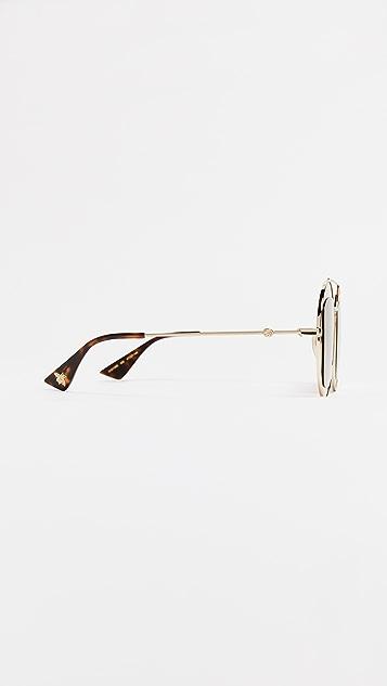 Gucci Круглые солнцезащитные очки Urban