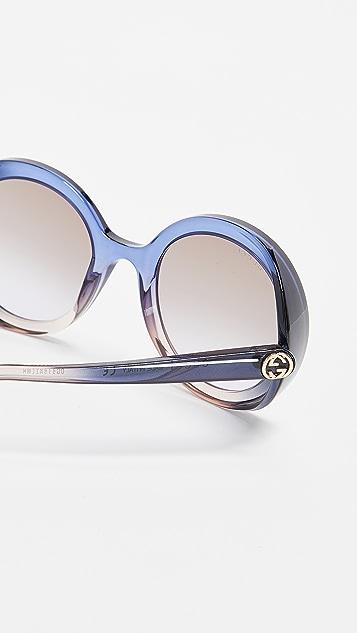 Gucci 迷人醒目圆形太阳镜
