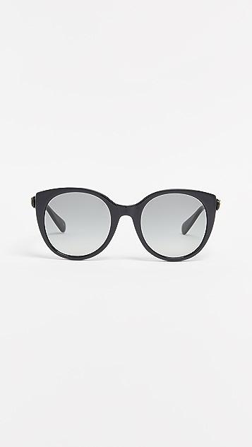 Gucci Soft Feminine Cat Eye Sunglasses - Black/Grey
