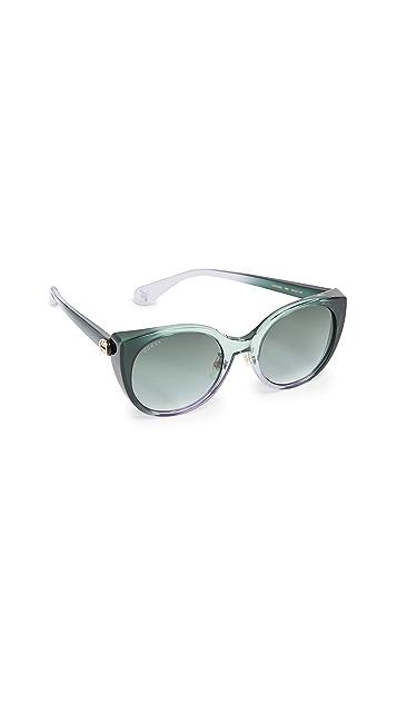 Gucci 柔软柔美猫眼太阳镜