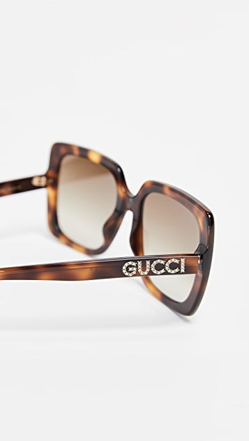 Gucci Acetate Square Sunglasses