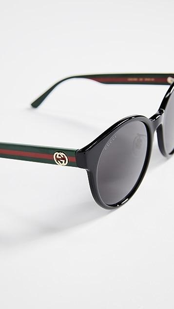 Gucci Круглые солнцезащитные очки из ацетата