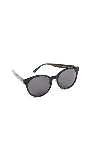 Gucci Acetate Round Sunglasses