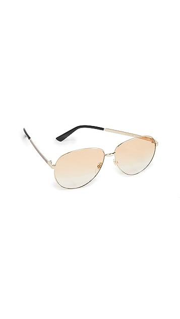 Gucci Винтажные солнцезащитные очки «авиаторы» Web Pilot
