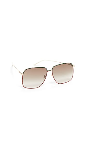 Gucci Крупные солнцезащитные очки Inspired в стиле 80-х