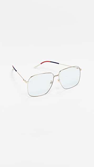 Gucci 80's Inspired Square Shaped Sunglasses