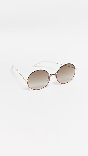Gucci 80's inspired Round Shaped Sunglasses