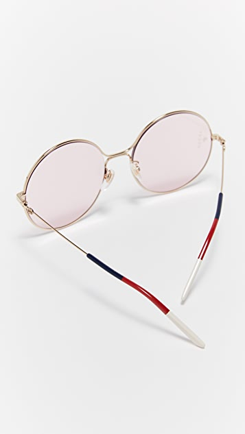 Gucci 80's inspired Round Shape Sunglasses