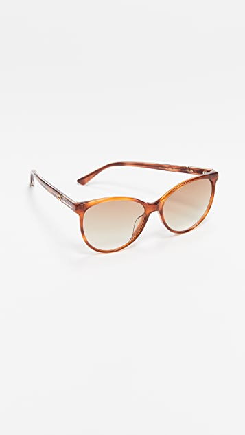 Gucci Web Cat Eye Sunglasses
