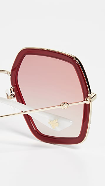 Gucci Web Block Sunglasses