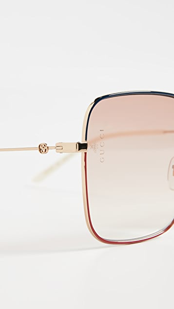 Gucci Light Glasant Sunglasses