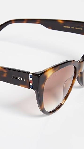 Gucci Web Plaque Sunglasses