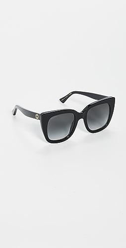 Gucci - Socks Acetate Square Sunglasses