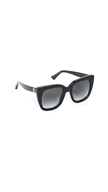 Gucci Солнцезащитные очки Socks в квадратной ацетатной оправе