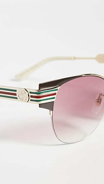Gucci Vintage Web 猫眼太阳镜