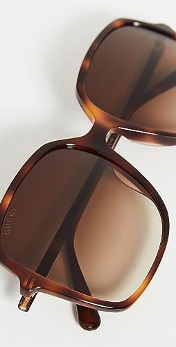 Gucci - Ultralight Acetate Square Sunglasses