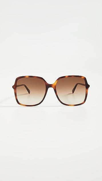 Gucci Ultralight 醋酸纤维塑料方形太阳镜