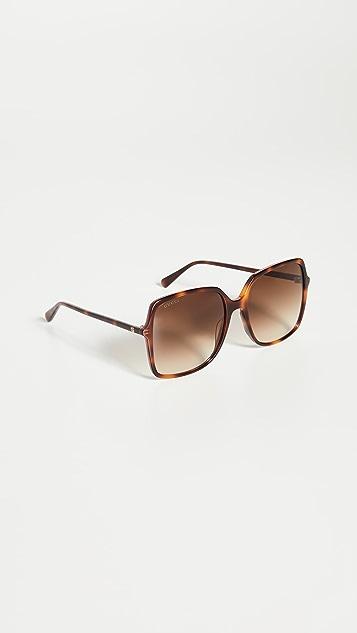 Gucci Ultralight Acetate Square Sunglasses